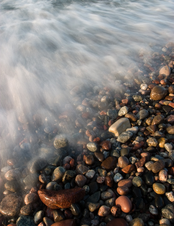 Colored Pebbles and Wave